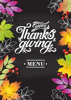 Illustration. happy thanksgiving day typography  design for greeting cards and poster on a textural background design template celebration.happy thanksgiving inscription, lettering.