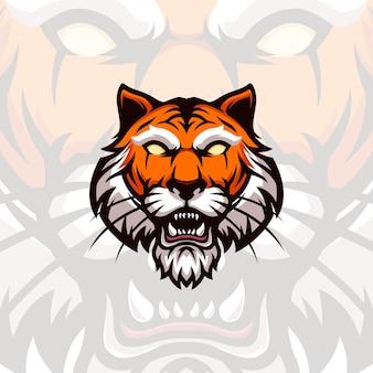 Illustration head of a tiger