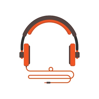 Illustration of headphone isolated in white