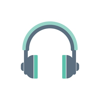 Illustration of headphones icon