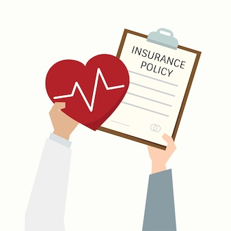Illustration of health insurance policy form