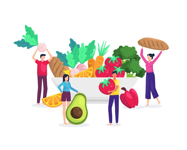 Illustration healthy food concept