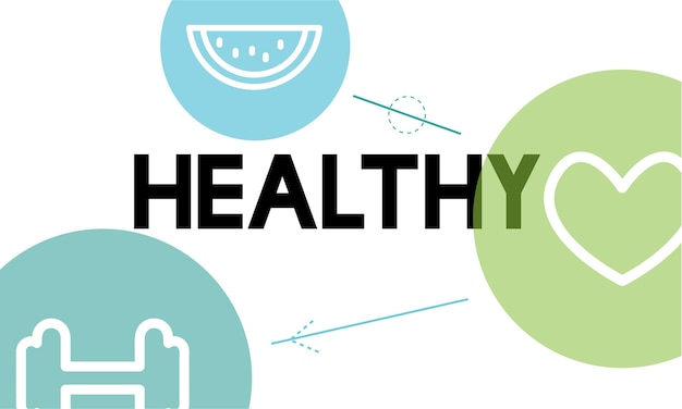 Illustration of healthy living concept