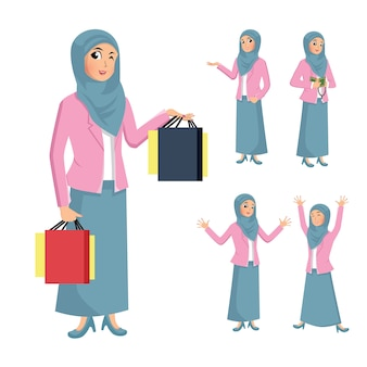 Illustration hijab woman