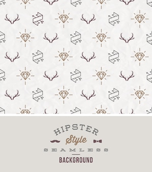 Illustration - hipster style seamless background