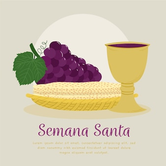 Illustration of holy week event with festive meal