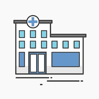 Illustration of a hospital