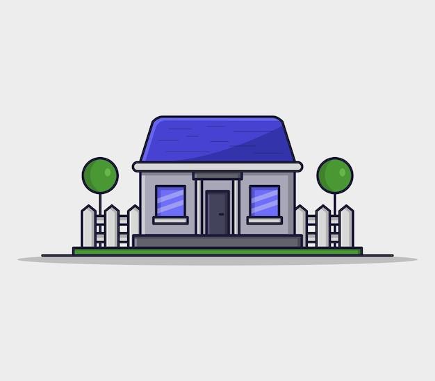 Casa di illustrazione in stile cartone animato