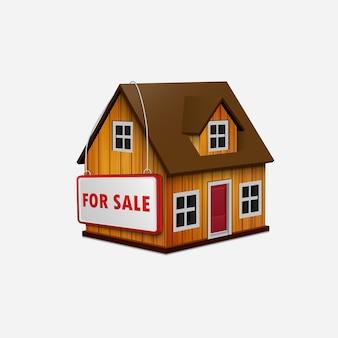 Illustration of house for sale