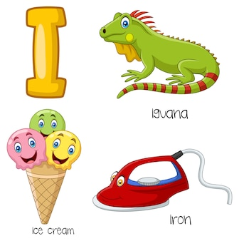 Illustration of i alphabet
