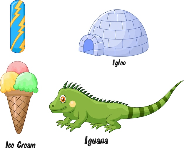 Illustration of i alphabet