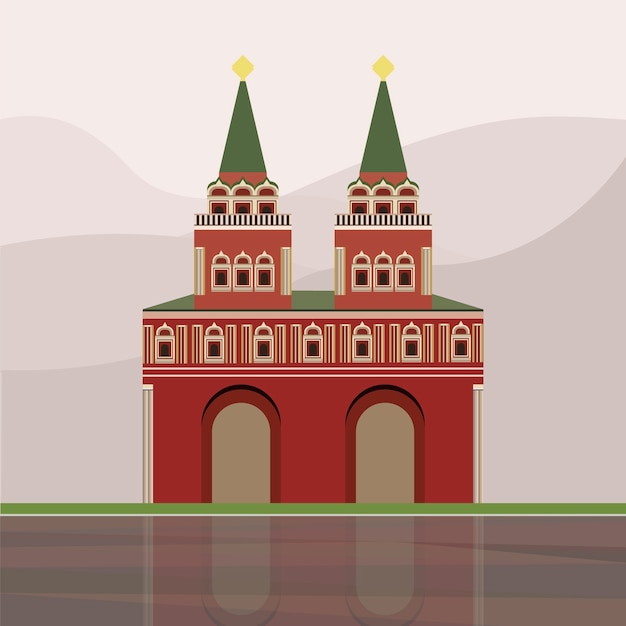 Illustrazione di iberian gate and chapel