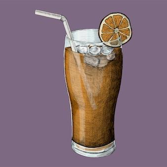Illustration of an iced tea