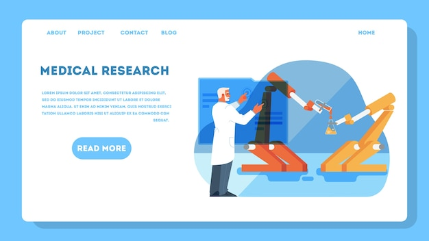 Illustration for idea of innovative healthcare and medical research.