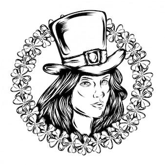 Illustration of illustration beautiful women saint patrick