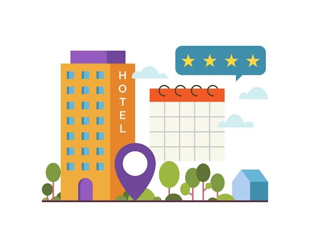 Illustration  illustration of online booking