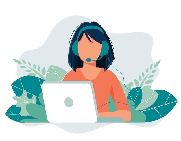 Illustration illustration for support assistance call center