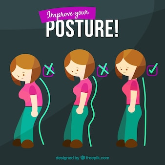 Illustration to improve your posture