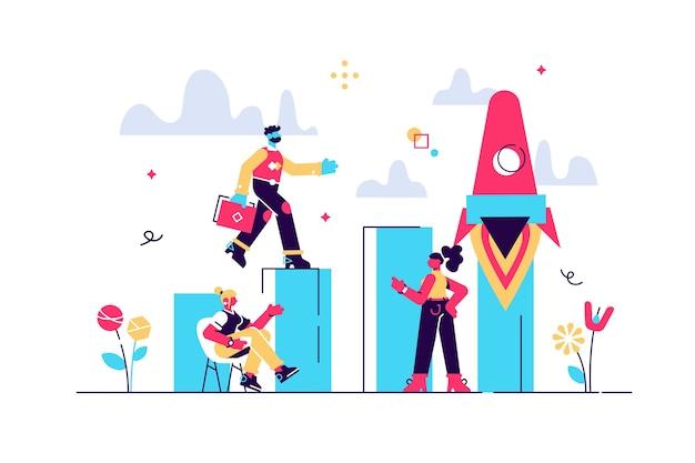 Иллюстрация в плоском дизайне