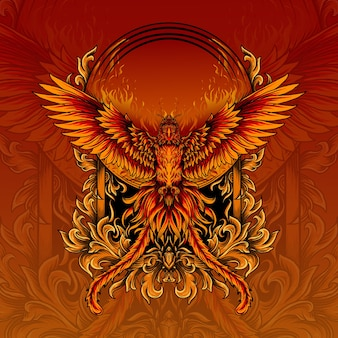 Illustration of incredible phoenix