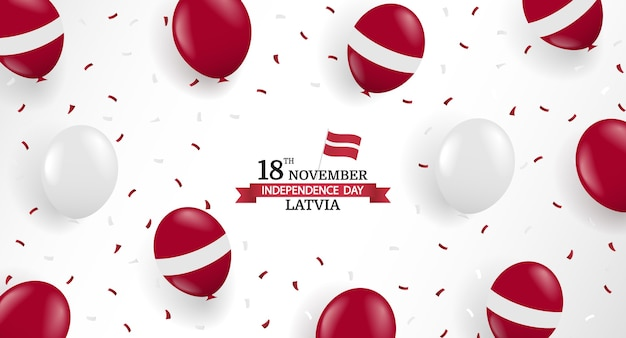 Illustration of independence day of latvia.