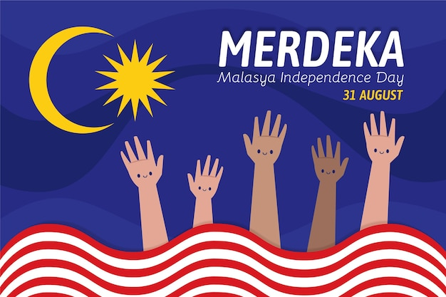 Illustration of independence day of malaysia