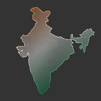 Illustration of india map vector