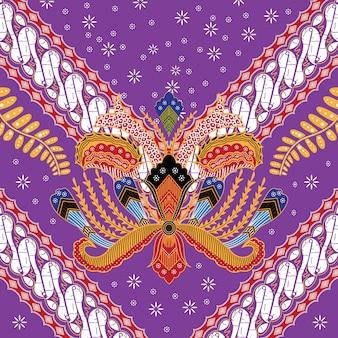 Illustration of indonesian batik