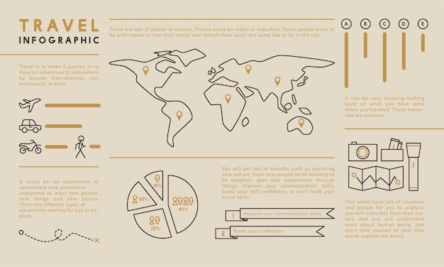 Illustration of infographic template
