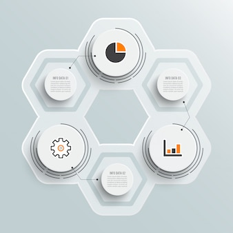 Illustration infographics 3 options