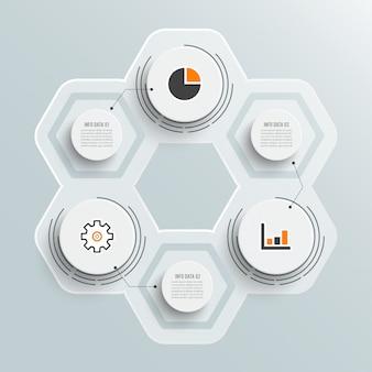 Illustration infographics 3 options