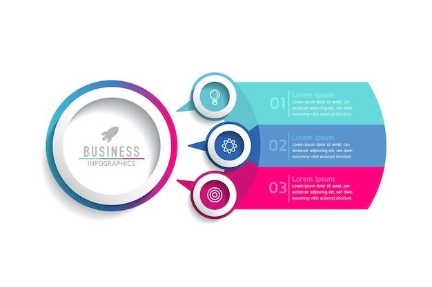 Illustration infographics design template, business information, presentation chart