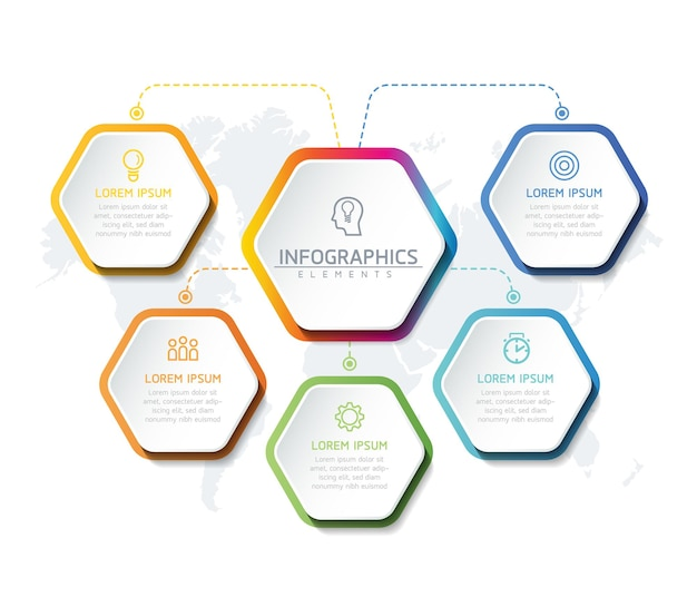 イラストインフォグラフィックデザインテンプレート、ビジネス情報、プレゼンテーションチャート