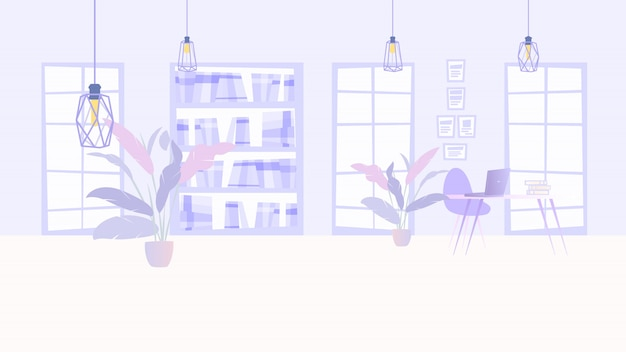 Illustration interior cozy office business company