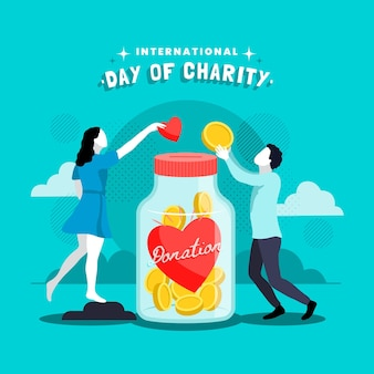 Illustration of international day of charity