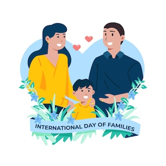 Illustration of international day of families