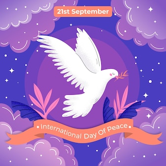 Illustration of international day of peace event