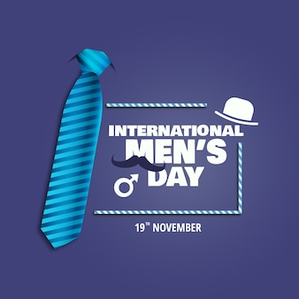Illustration of international men's day.