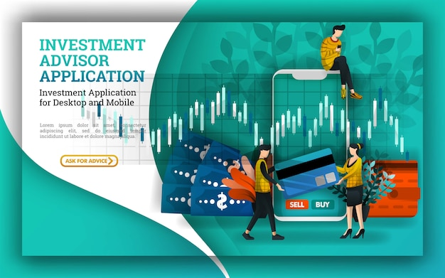 Illustration for investment and financial advisors apps