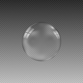 The illustration is made in the form of a drop or soap bubble.