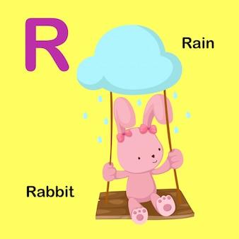 Illustration isolated alphabet letter r
