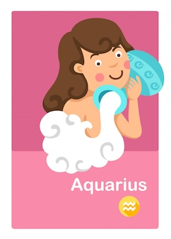 Illustration of isolated aquarius vector. zodiac signs