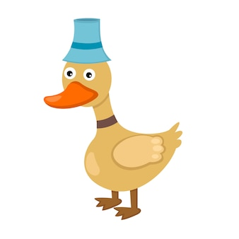 Illustration of isolated duck on white background