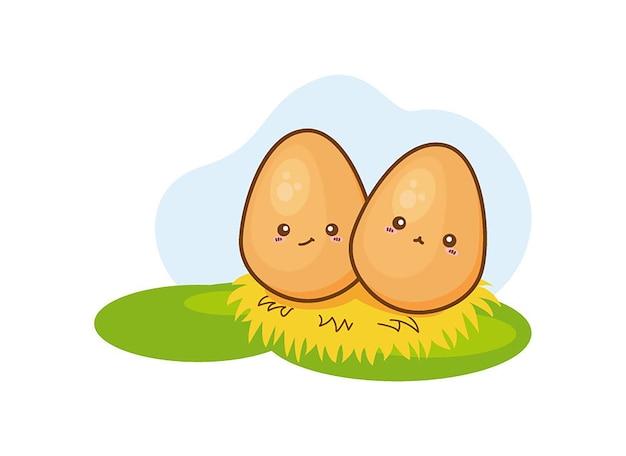 Illustration of isolated egg on white background