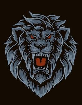 Illustration isolated lion head