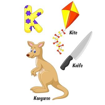 Illustration of k alphabet