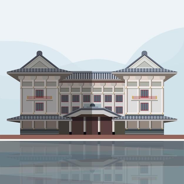 Illustration of kabuki-za