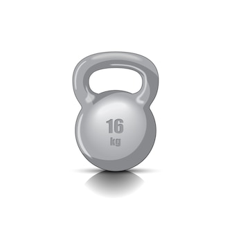 Illustration of kettlebell with handle