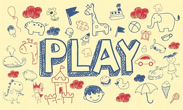 Illustration of kids concept