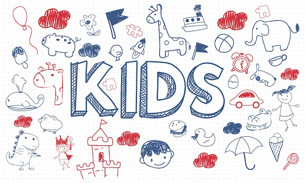 Illustration of kids concept